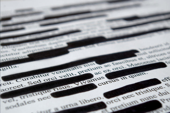 Options for Redaction